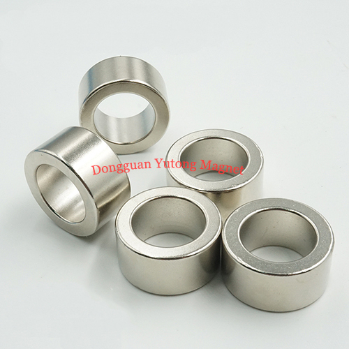 N38 Neodymium Ring Magnets, D 20*d13*10MM, Nickel