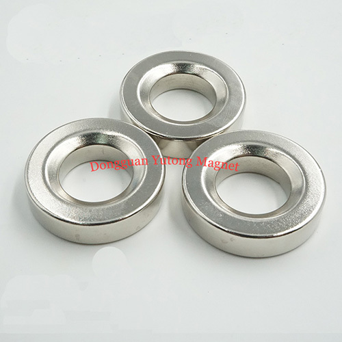 Φ35x10 mm Neodymium N40 Strong fastening Countersunk Ring Ma