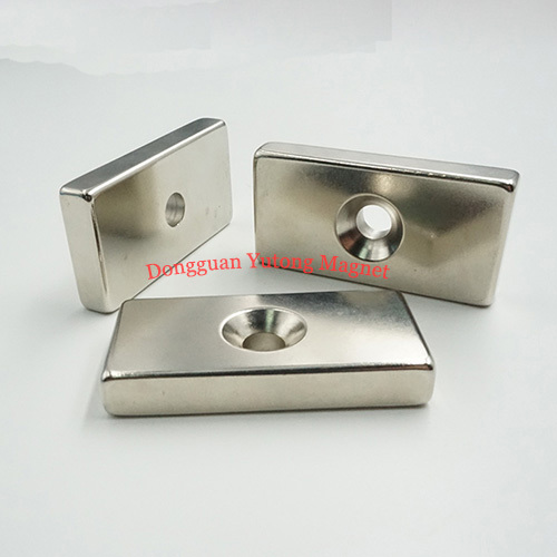 35x20x5(M5)(mm)  Rectangle Neodymium Countersunk Magnets