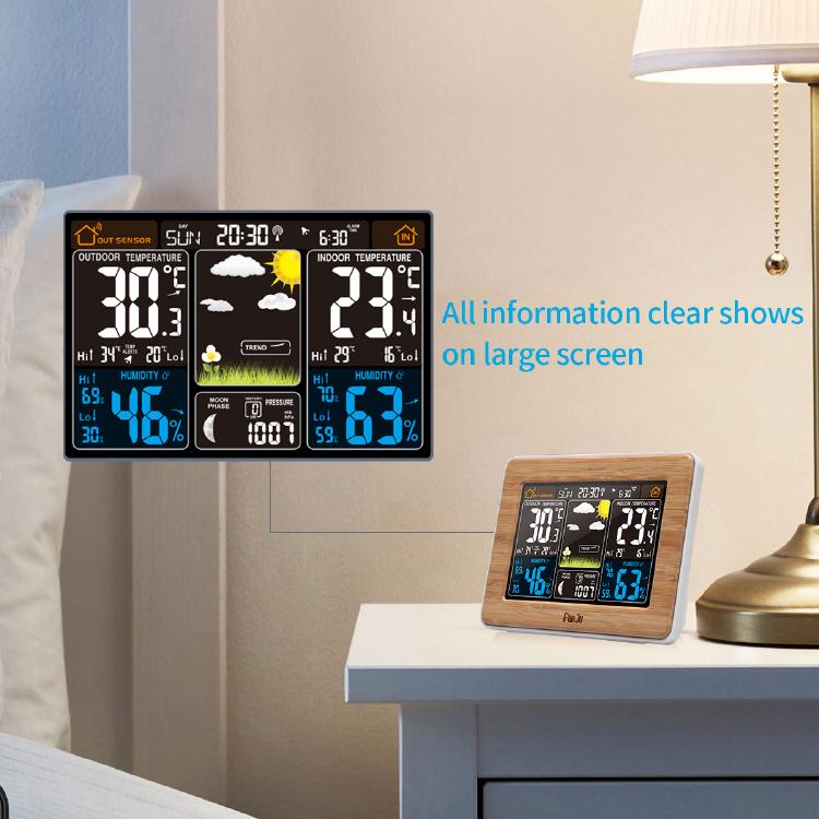 FanJu FJ3365B Wireless Weather Station Color Forecast with Outdoor Sensor