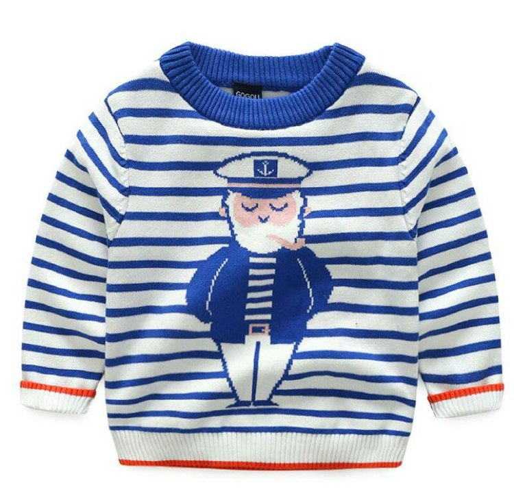 100%Cotton Soft round neck Kids knitwear sweater for winter