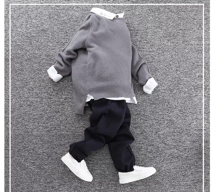 100%Cotton Kids knitwear sweater SD6005 for summer/winter