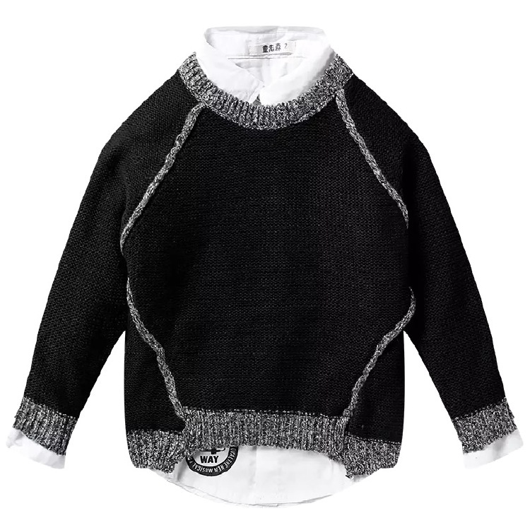Warmly Acrylic Kids pullover sweater SD6007 thick gauge