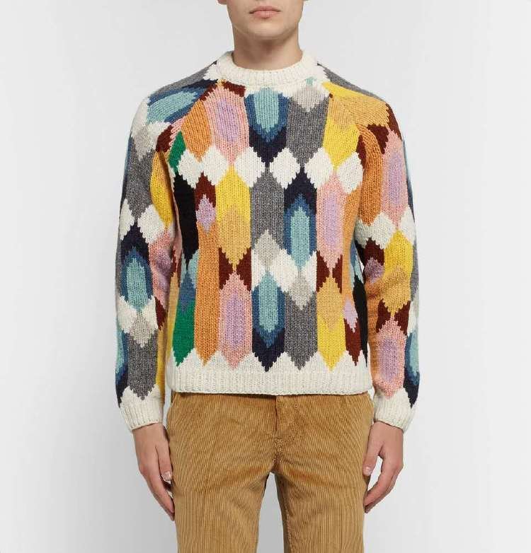 Factory direct supply Intarisa knitting man sweater, argyle
