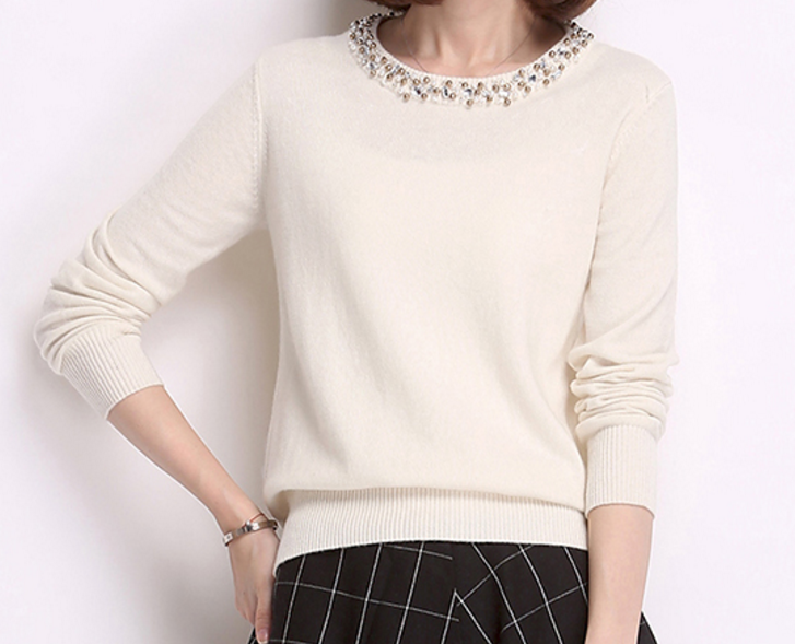 High quality luxury customized cashmere woman sweater