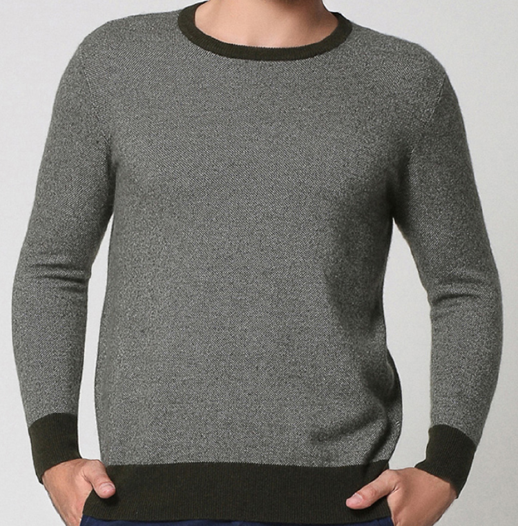 Casual comfortable Pure Cashmere Round neck Pullover Sweater