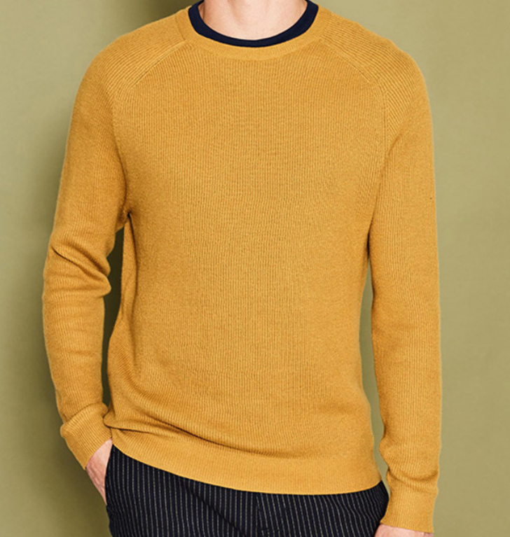 Casual Commercial Cotton Round neck L/S Pullover Sweater