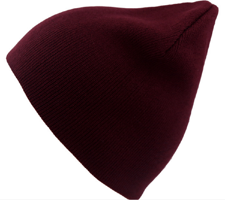 Hot selling warmly men's cotton solid color knit cap