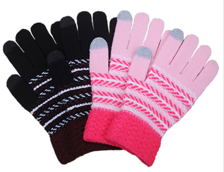 Fashion Ladies Outdoor Sport warm knitted Winter gloves