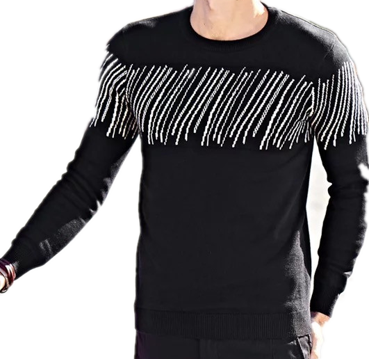 100%Cotton Men's crew neck sweater pullover