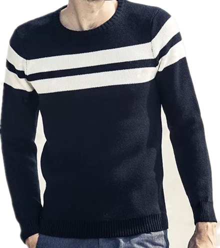 100%Cotton long sleeves Men's crew neck sweater