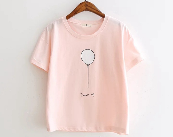 Women's Cotton White Round Neck T Shirt With Printing