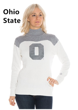 Cheer sweater with chenille letter /Licensed collegiate
