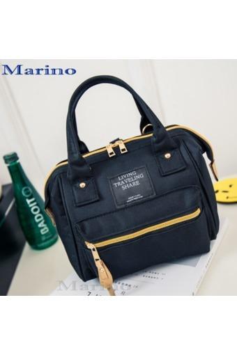 Marino กระเป๋า กระเป๋าสะพายข้างสีดำ สำหรับผู้หญิง No.0204 -