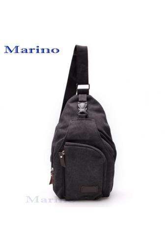 MARINO กระเป๋าสะพายข้างสีดำ รุ่น No.3860 สีดำ