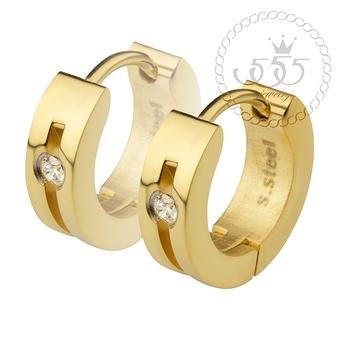 555jewelry เครื่องประดับผู้หญิง ต่างหูห่วง สแตนเลสสตีล ดีไซน