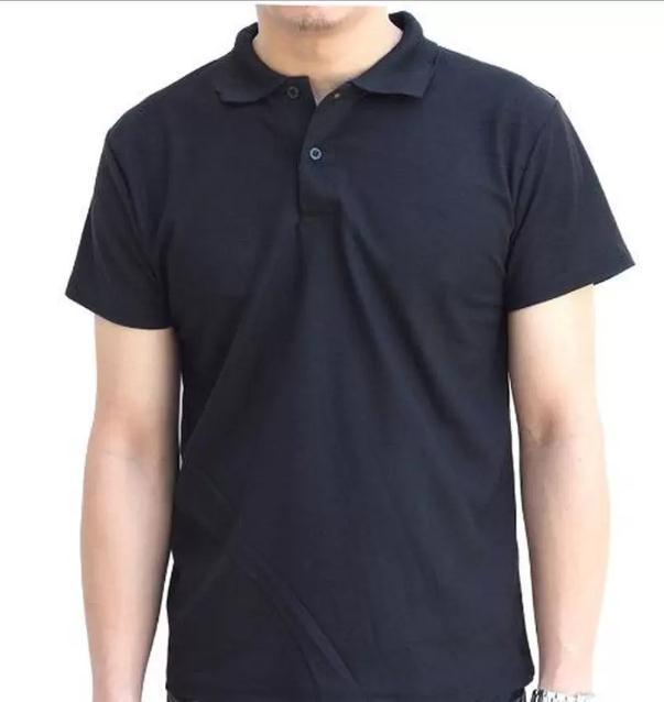 Marino เสื้อโปโล เสื้อแขนสั้นผู้ชายสีดำ No.S003 - ดำ