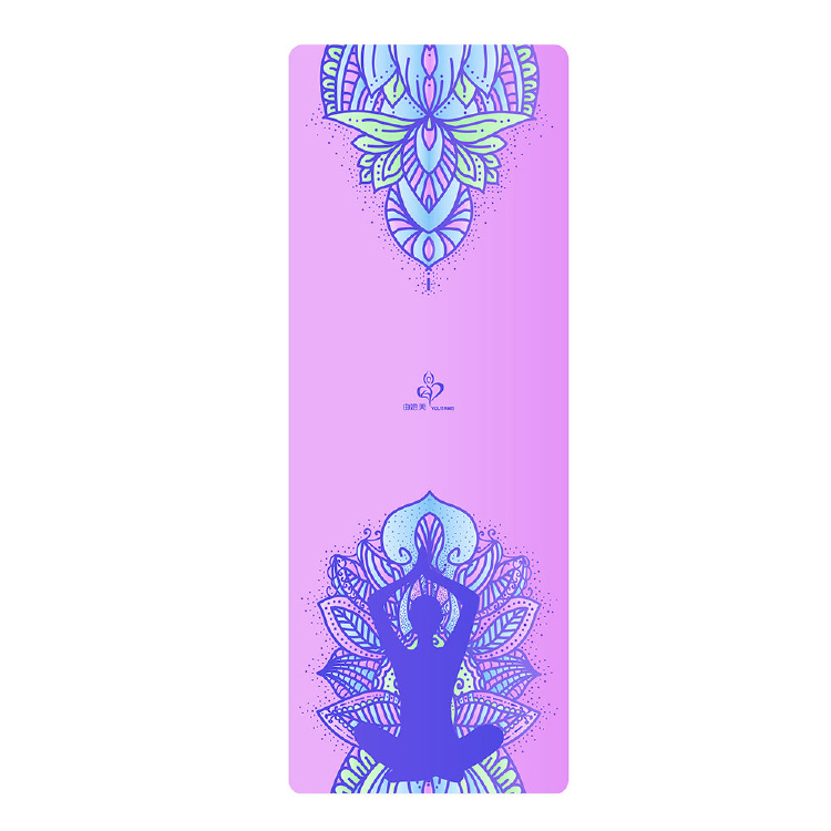 Suede - natural rubber yoga mats