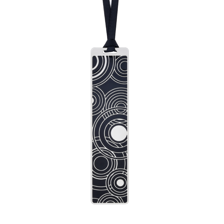 Silver frame black bookmark BK17013S