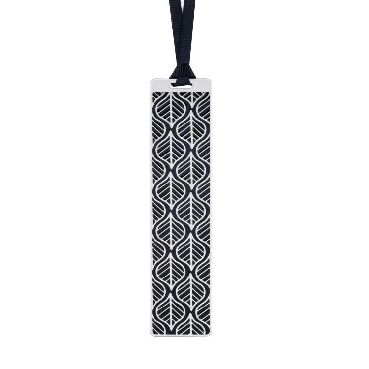 Silver frame black bookmark BK17019S