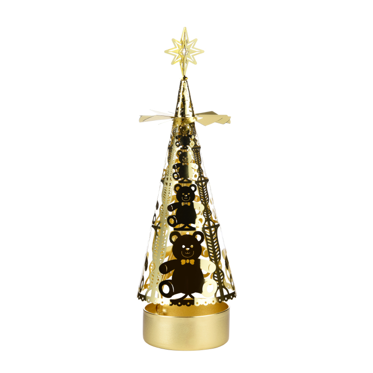 Christmas tree rotating candlestick SS17178B