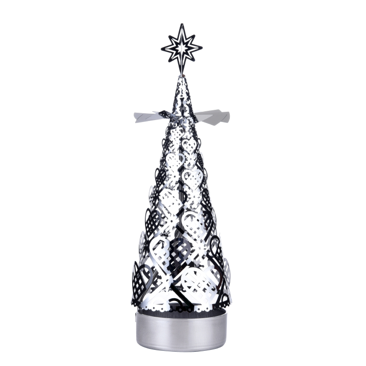 Christmas tree rotating candlestick SS17175S