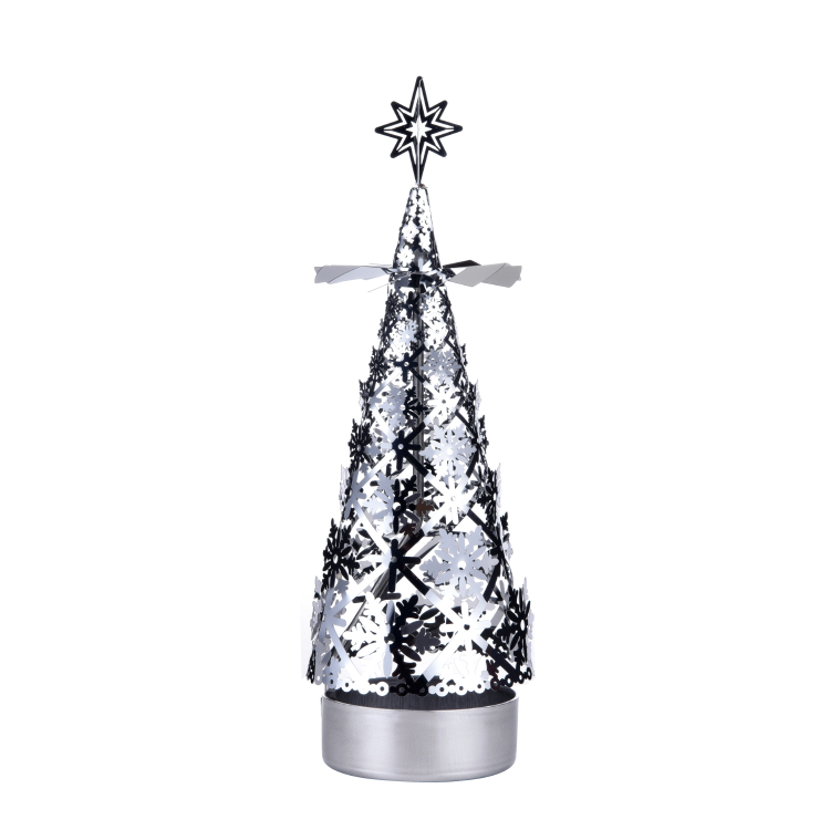 Christmas tree rotating candlestick SS17176S