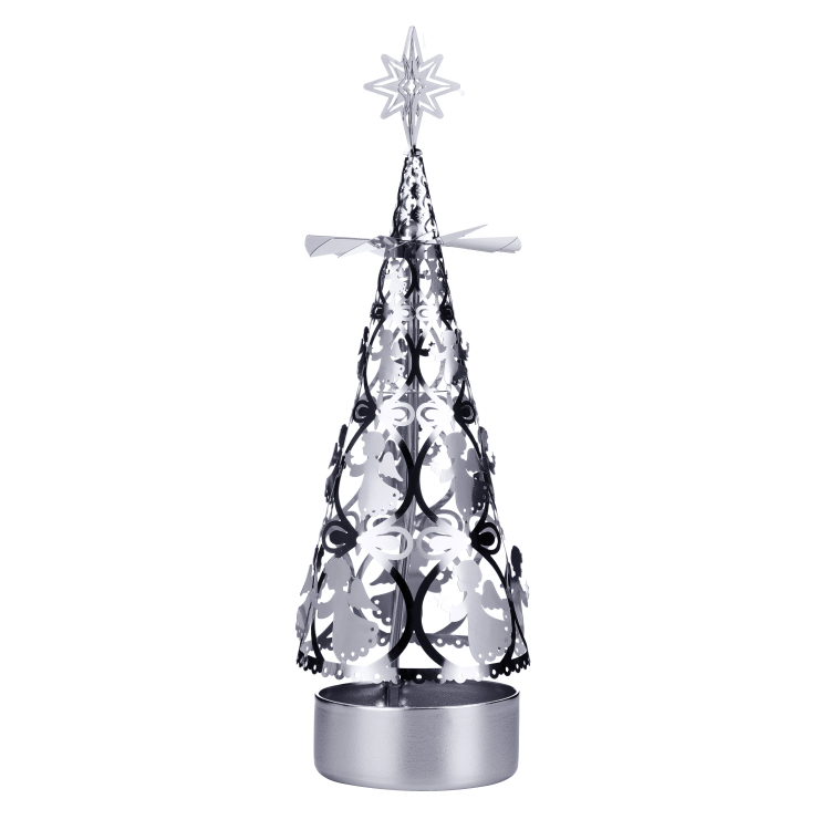 Christmas tree rotating candlestick SS17181S