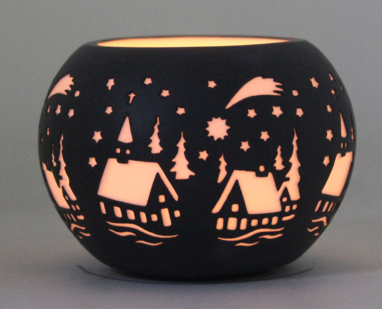 Porcelain Candle Holder PP17007B