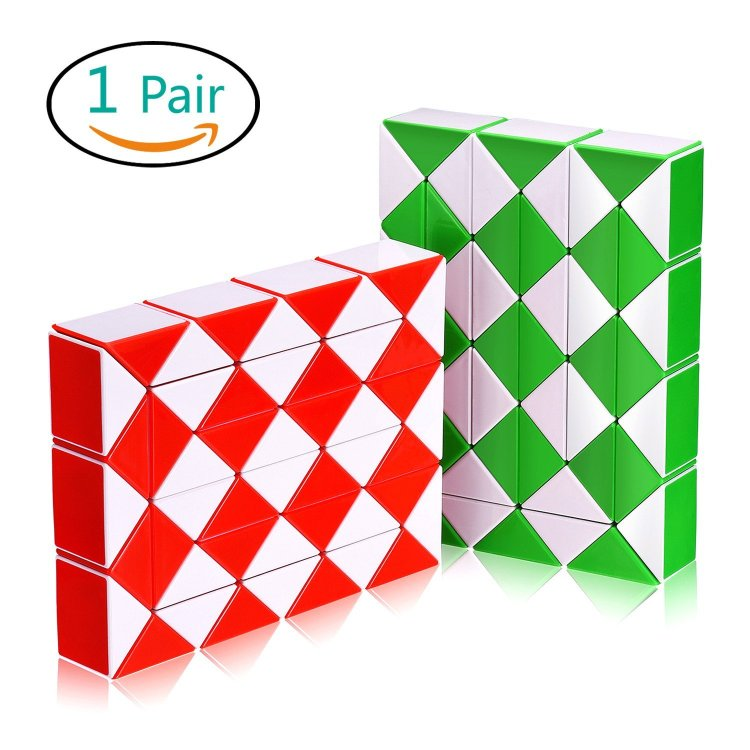 Snake Speed Cube Puzzle Toys 48Parts Twist Magic Ruler Cube