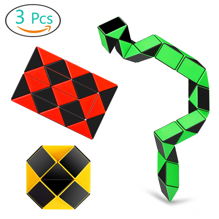 Speed Cube Snake Ruler Cube Puzzle Pack | 24 Wedges Twist Pu
