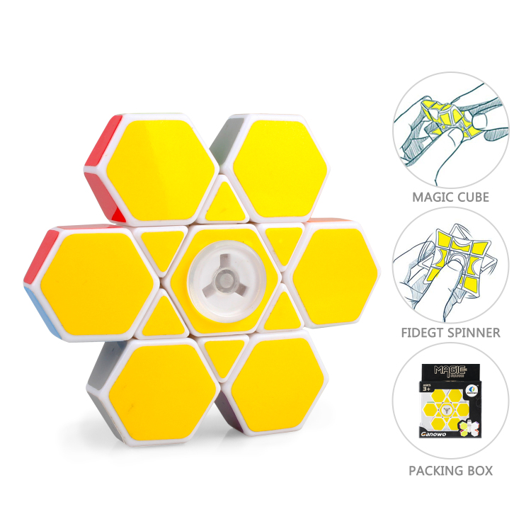 Ganowo Fidget Spinner Cube 1x3x3 Brain Teaser Anti-Anxiety F