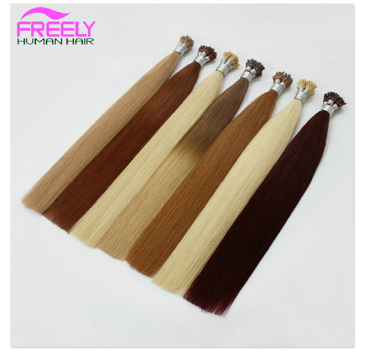 18 Inch 100Strands Stick I- Tip Keratin Remy Hair Extensions