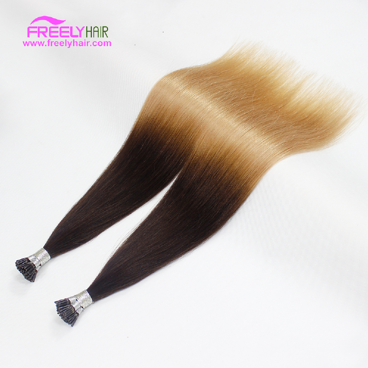 24 Inch Straight Stick Hair I Tip Keratin Remy Hair Extensio