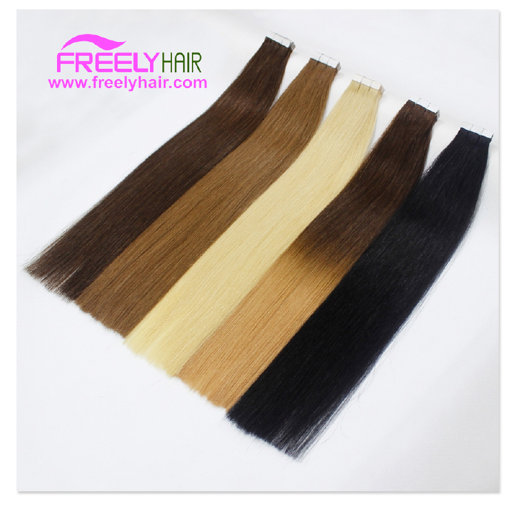 "24"" Remy Tape in Hair Extension T4/27 Ombre Color 2g/piece 2"