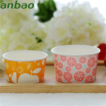 custom ice cream packaging 500ml ice cream paper cup