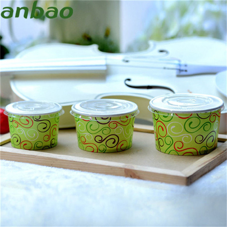 carton 3 oz 4oz 5 oz 150ml 500ml ice cream cups with lid