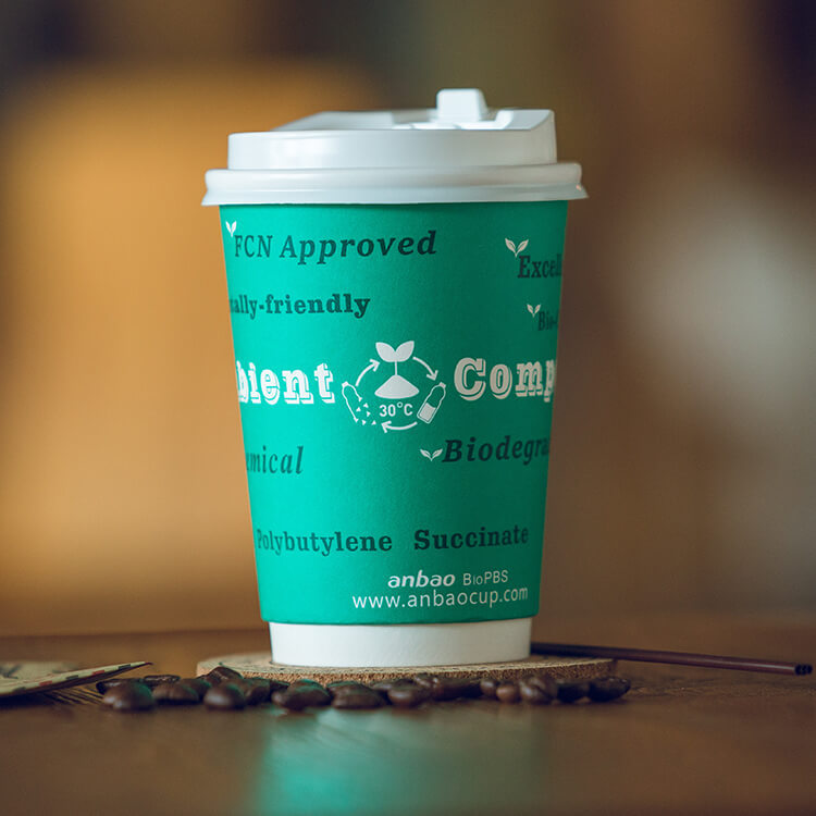 Disposable Eco Bulk 8 oz Compostable Cup Double Wall 7oz Ven