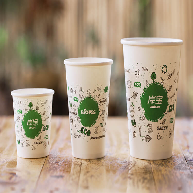 Durable Hot Sale Food Grade Paper Biodegradable Cup Wholesal