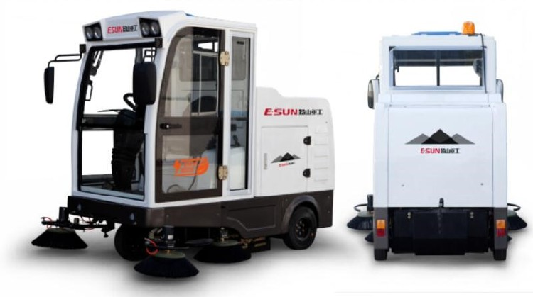Self-Discharging Electric Road Sweeper