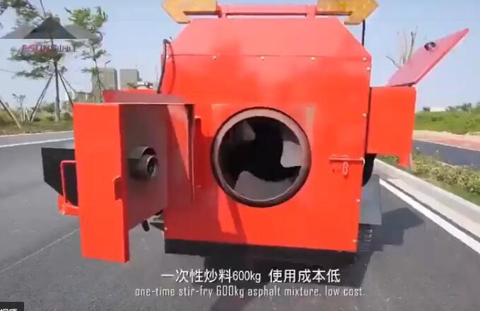 旧沥青再生剂热修复沥青路面坑槽