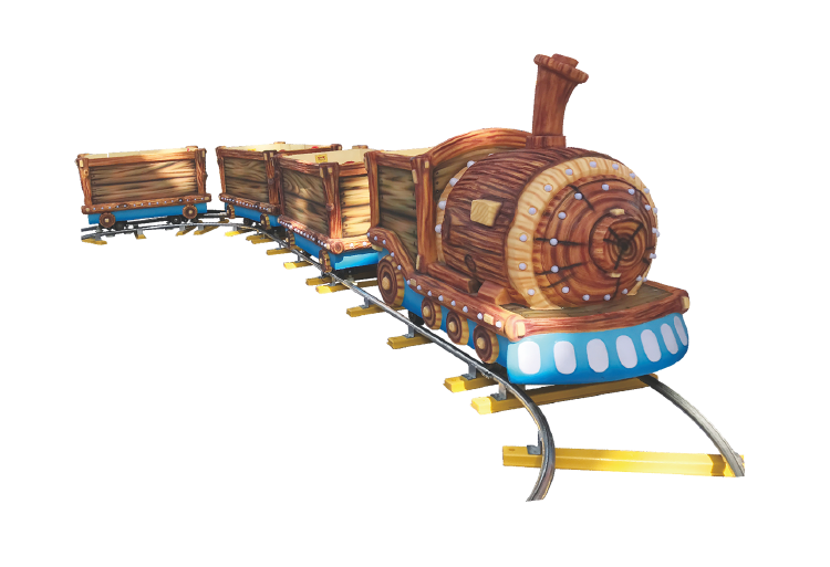 HC-010-1 Wood Grained Train