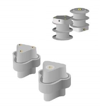 Three Rail Bracket Composite Insulators/Insulator For Urban