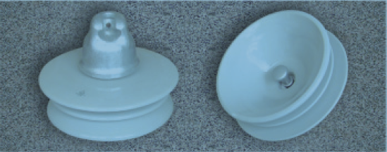 420kN DC suspension porcelain insulator XZSP1-420 (U420B)