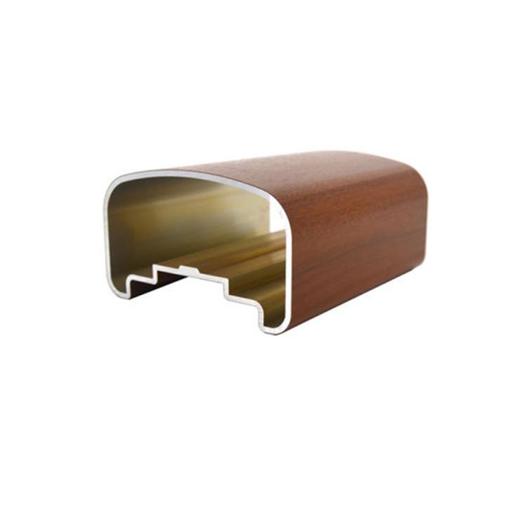 Wood Grain Transfer Aluminum Aluminium Extrusion Profile for Window Door
