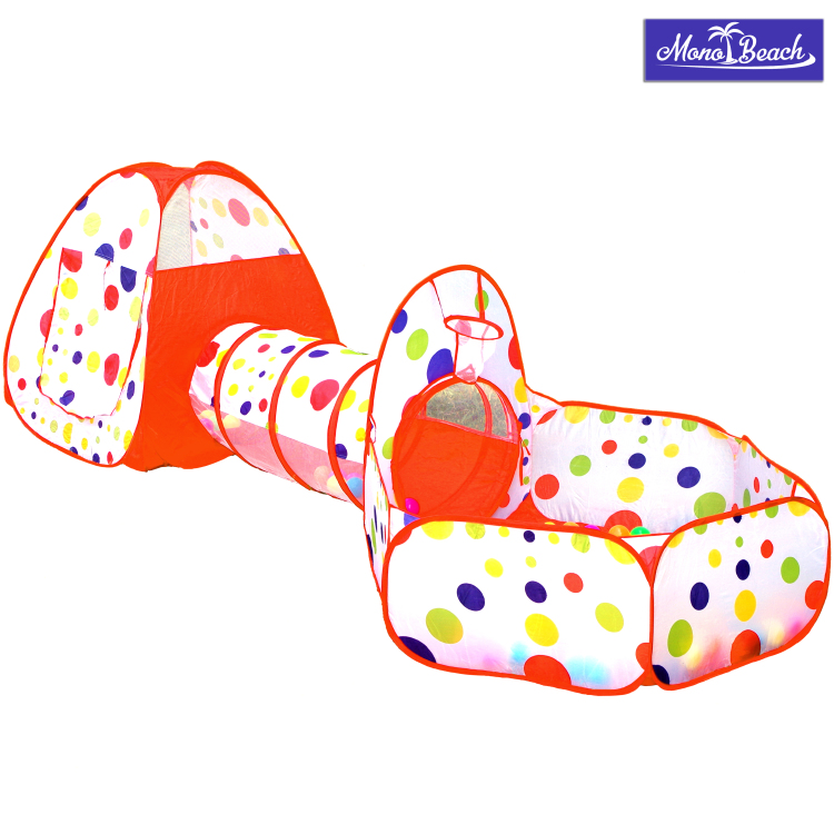 MonoBeach Kids Playhouse - Consist of Ball Pit, Tunnel and P