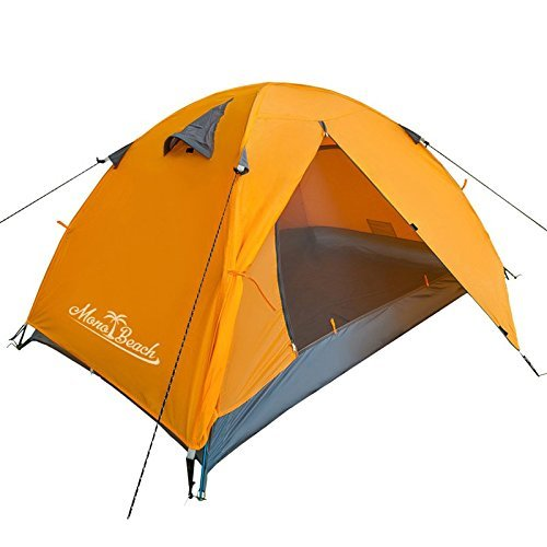 MonoBeach Backpacking Tents 2-3 Person Dome Tent Double Laye