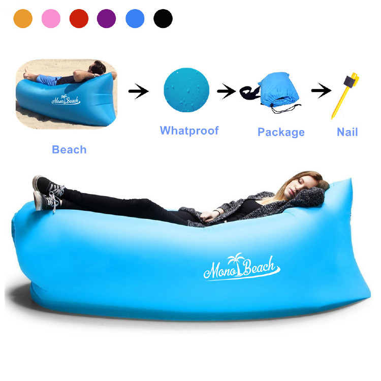 Monobeach Air Lounger Sofa with Carry Bag (Blue)