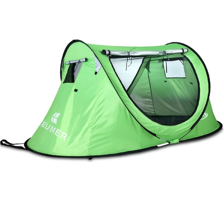 Pop Up Camping Tent for 2 Person, Automatic Instant Setup wi