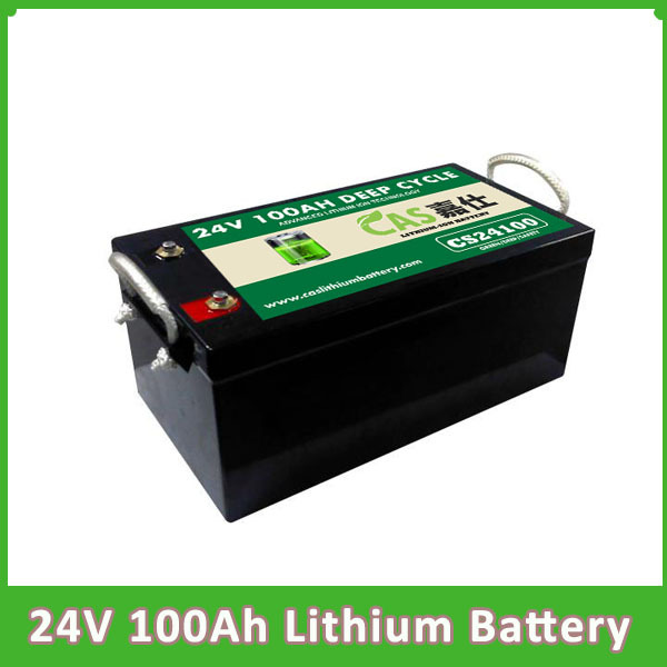 Rechargeable  24V 100AH  Lifepo4 Lithium Battery Pack